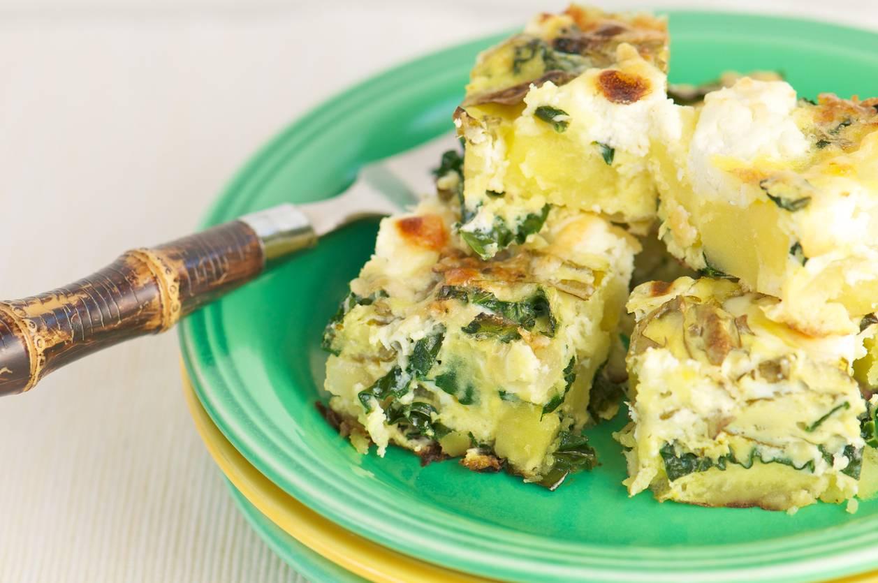 Omelette delicata agli spinaci